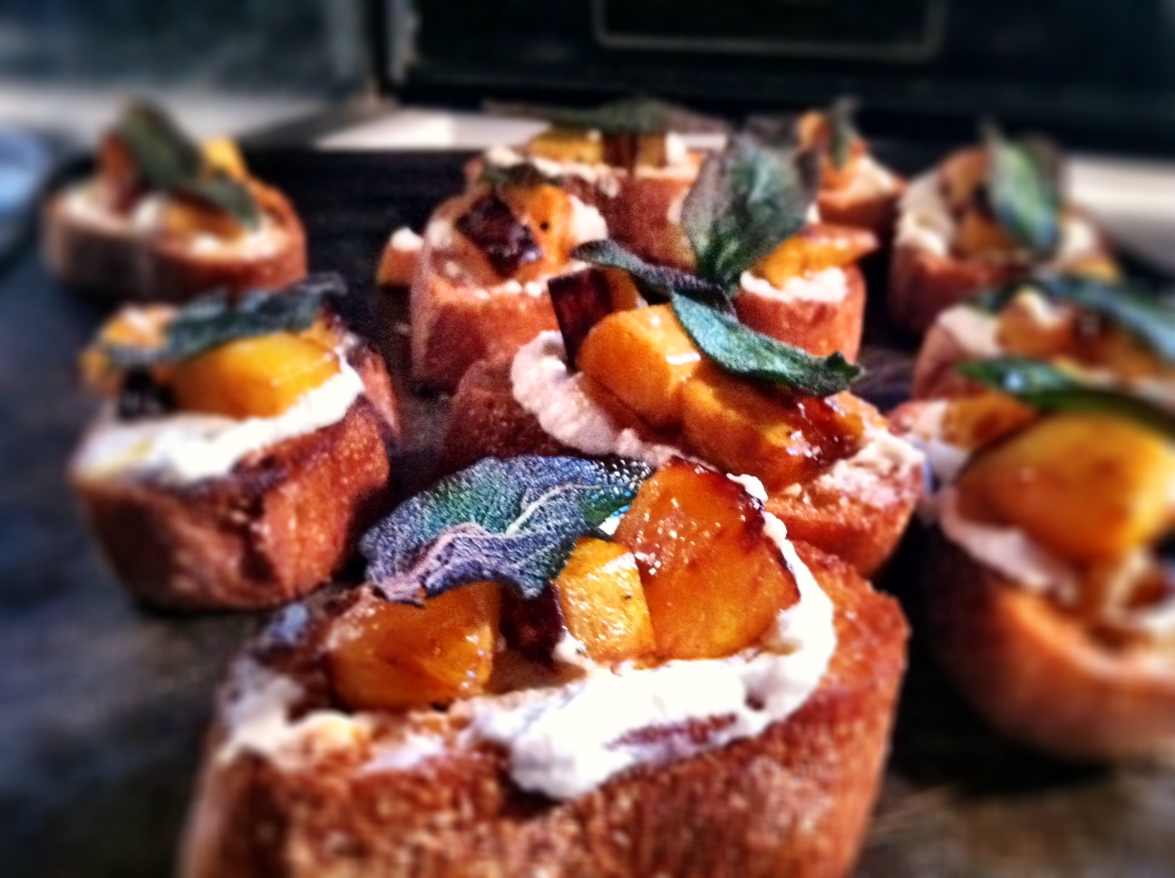 Butternut Squash, Ricotta, And Sage Crostini Recipes — Dishmaps