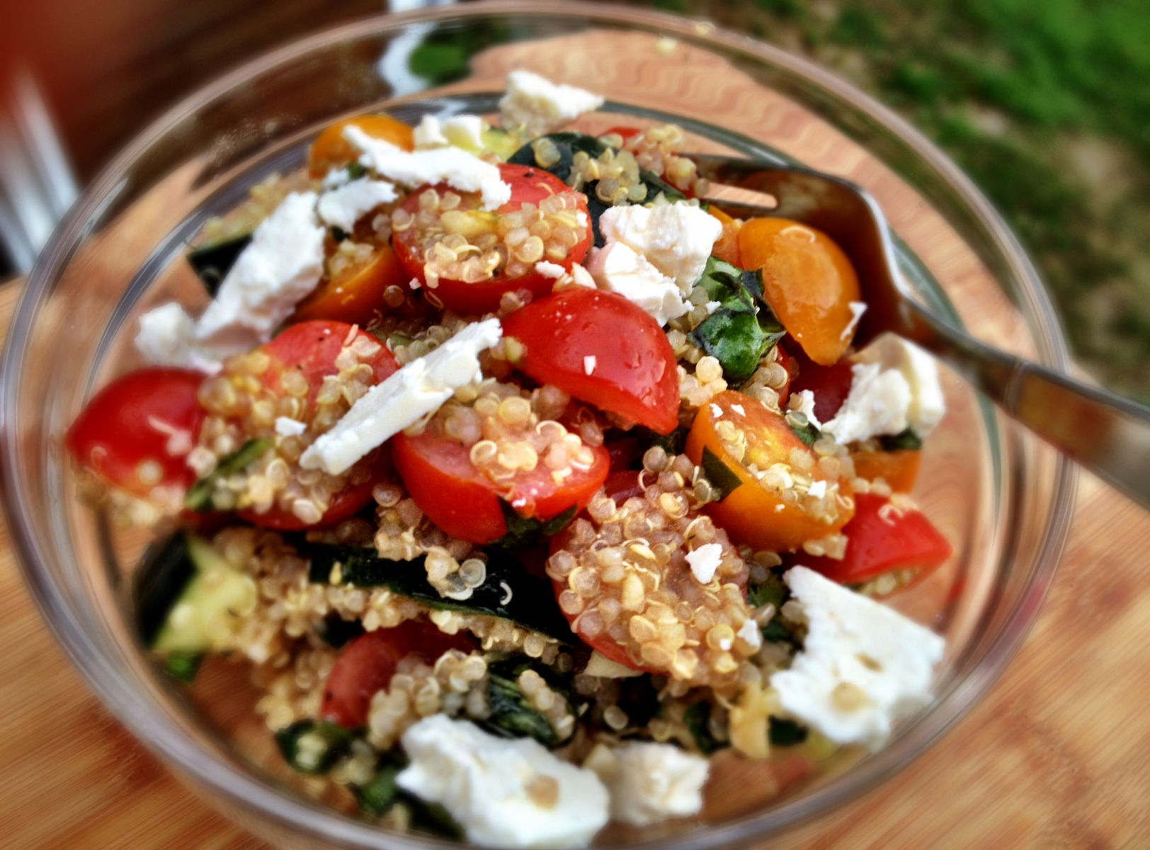 summer quinoa salad - Dishing Up the Dirt