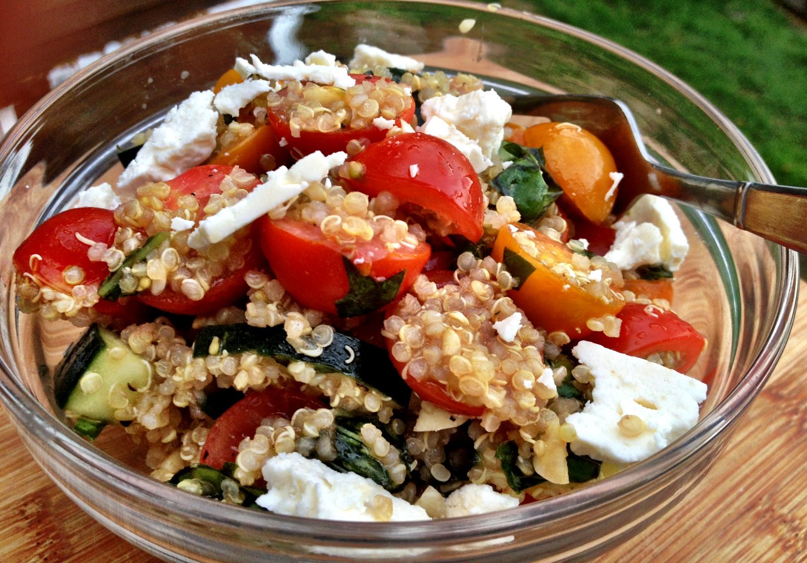 summer quinoa salad - Dishing Up the Dirt