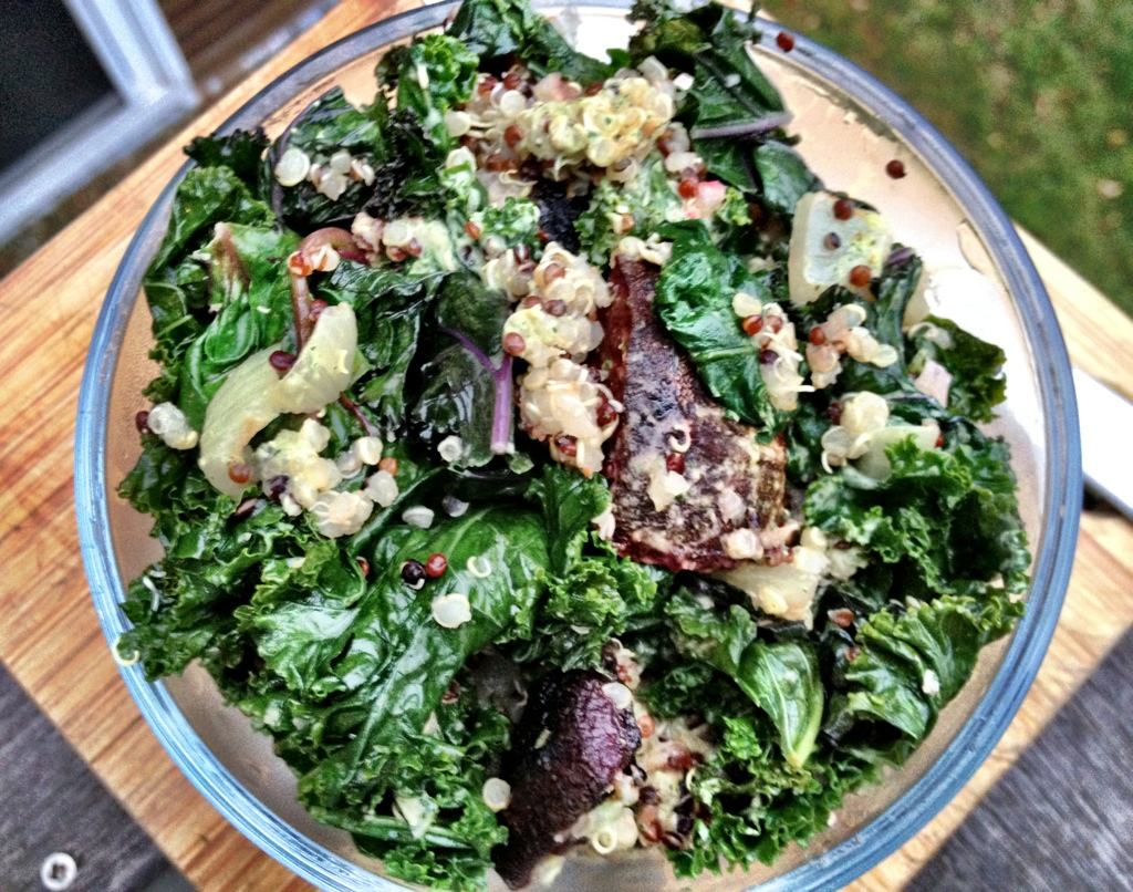 roasted beets and kale salad with lemon -dill tahini ...