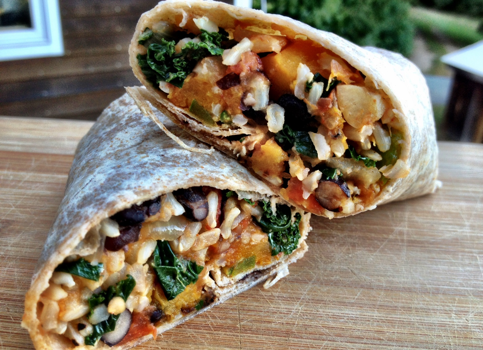 butternut squash and black bean burritos - Dishing Up the Dirt