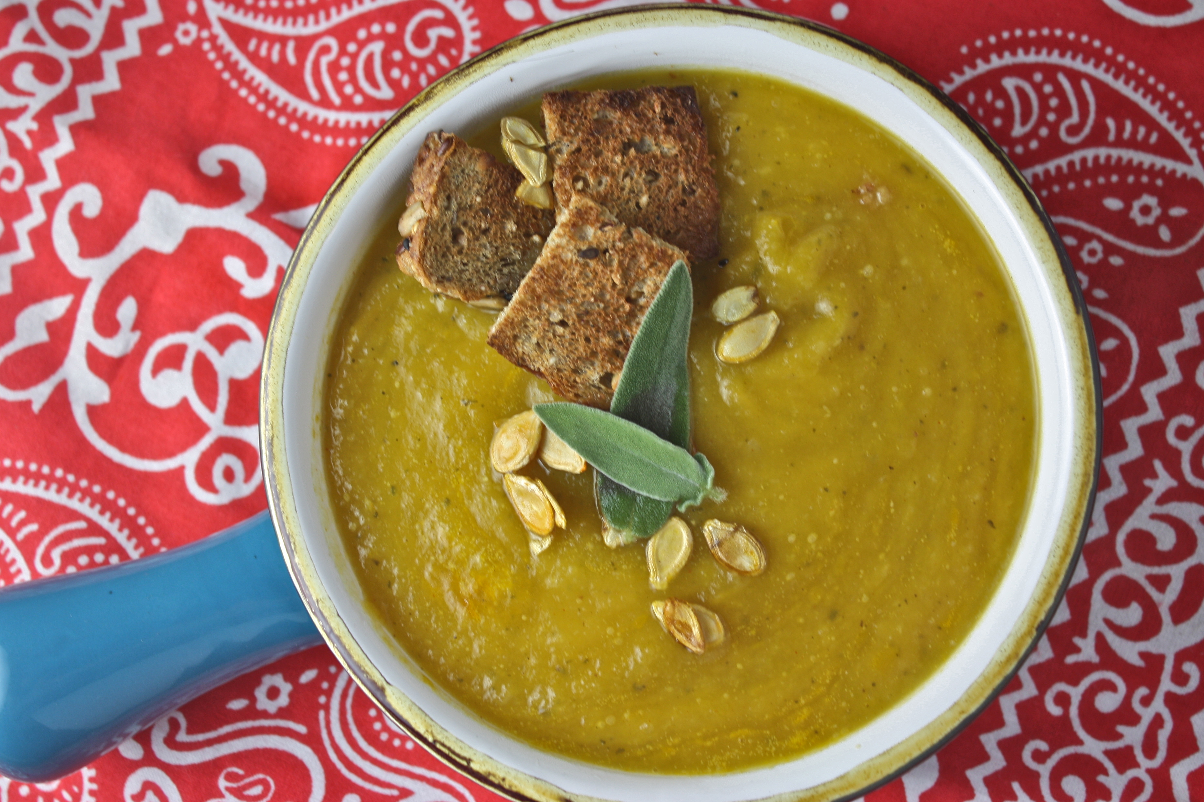 butternut squash and sage soup - Dishing Up the Dirt